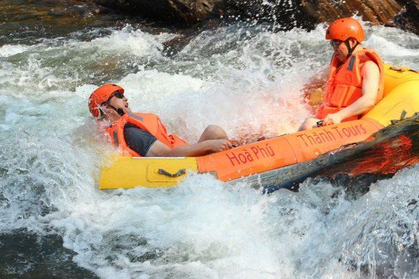 Hoa Phu Thanh waterfall sliding daily tour